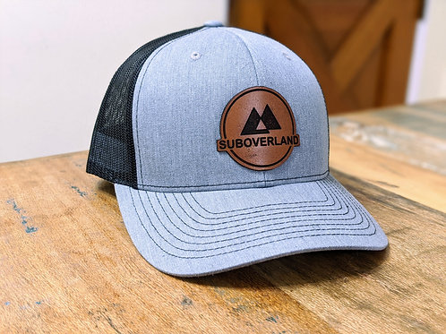 SUBOVERLAND Leather Patch Hat (Grey/Black)