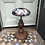 Thumbnail: Adjustable walnut stool in velvet printed fabric