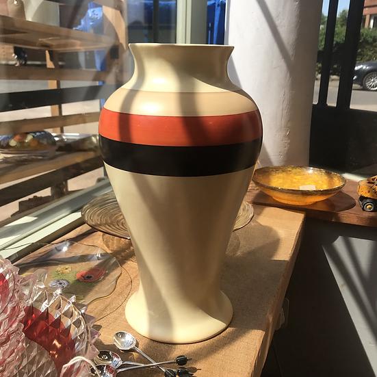 1930 Back & Orange striped vase