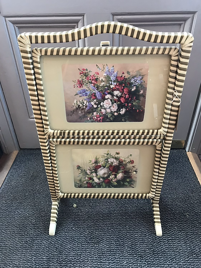 1950s Fold Up Floral Floor Stand