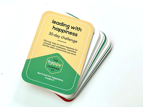 Leading with Happiness 30-day Challenge Cards