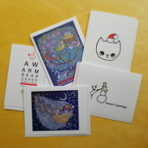 Christmas holiday 5 pack | Greeting cards