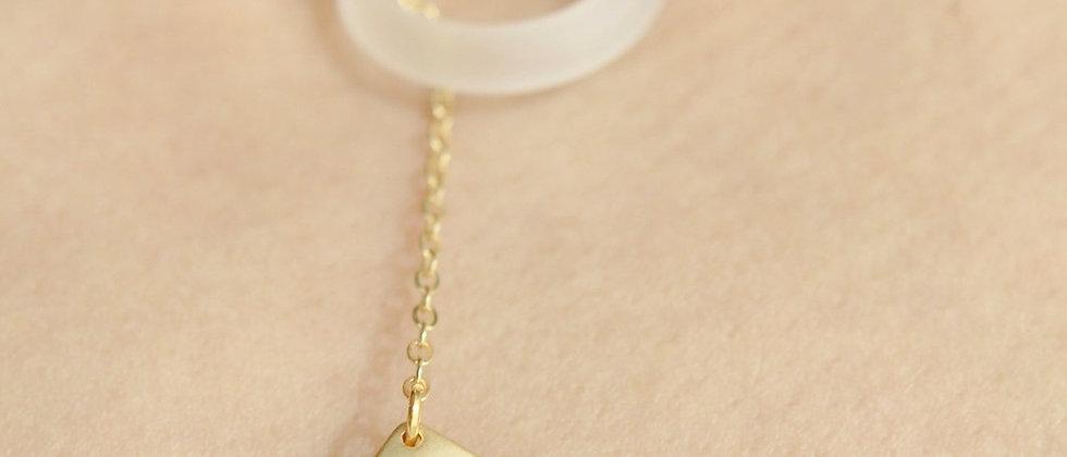 gold Paper Plane Necklace Lariat Pendant