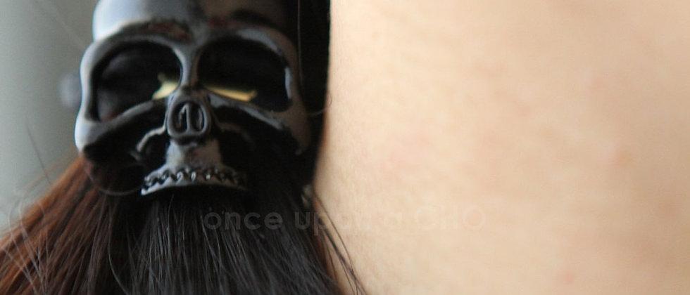 black Cool SKULL Hair Tie