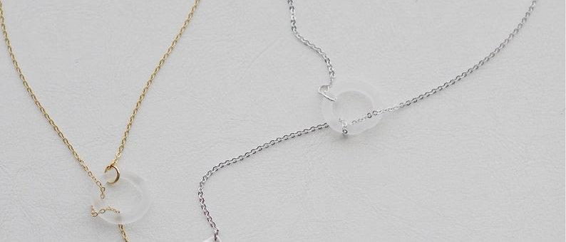 silver Paper Plane Necklace Lariat Pendant