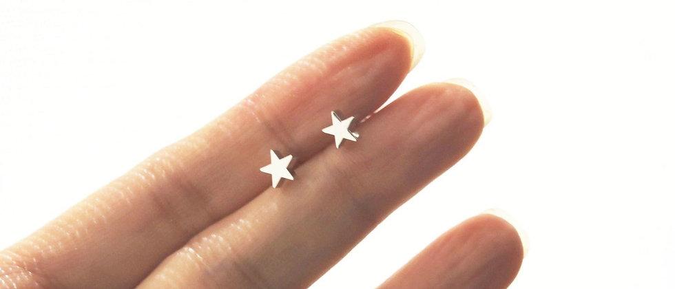 wishing on a star teenie weenie itty bitty stud earrings