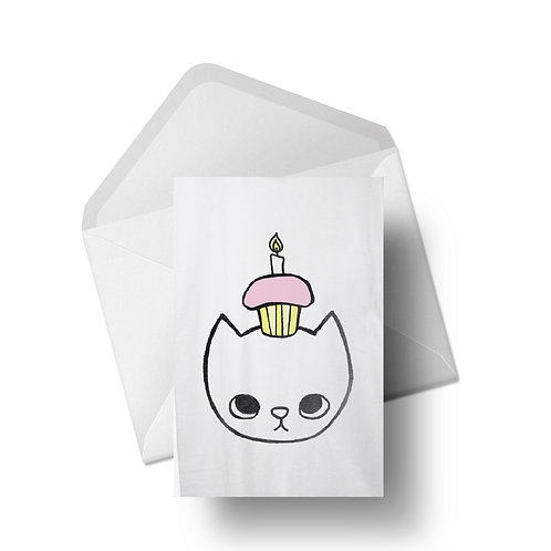 cupcake cat | Greeting Cards