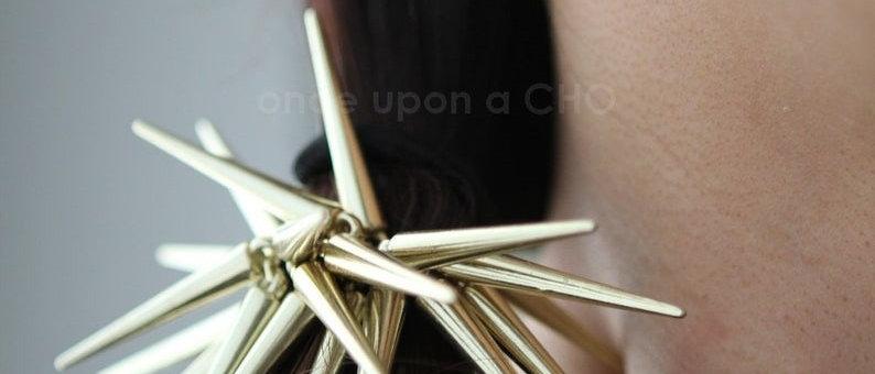 gold Spikey Spike Hair Tie