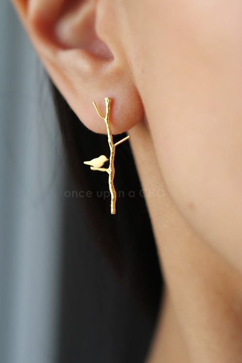 Love Birdie Earrings   Gold