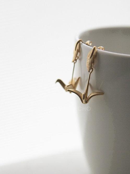 Japanese Cranes   Gold