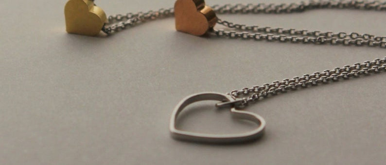 Sweetheart Open Heart or small heart layered Necklace Pendants