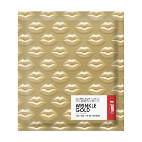 manefit Bling Bling Hydrogel Mask - Wrinkle Gold (Box of 4)