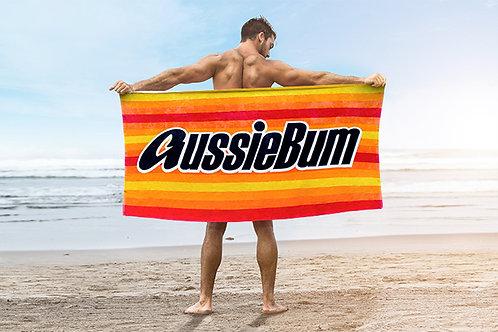 aussieBum Multi Striped Cotton Beach Towel