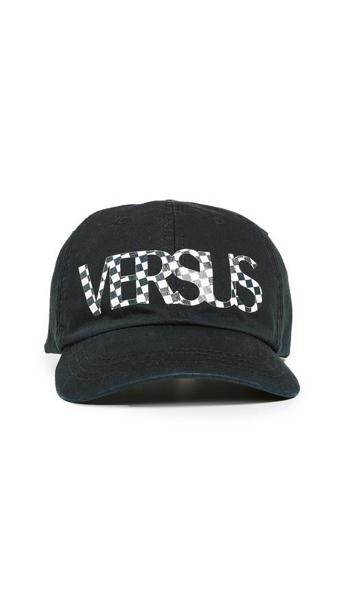 d621b4fdcc4 Versus Versace Check VS Logo Cap Black BUC0041-BT10524 BTU UNICA B1008