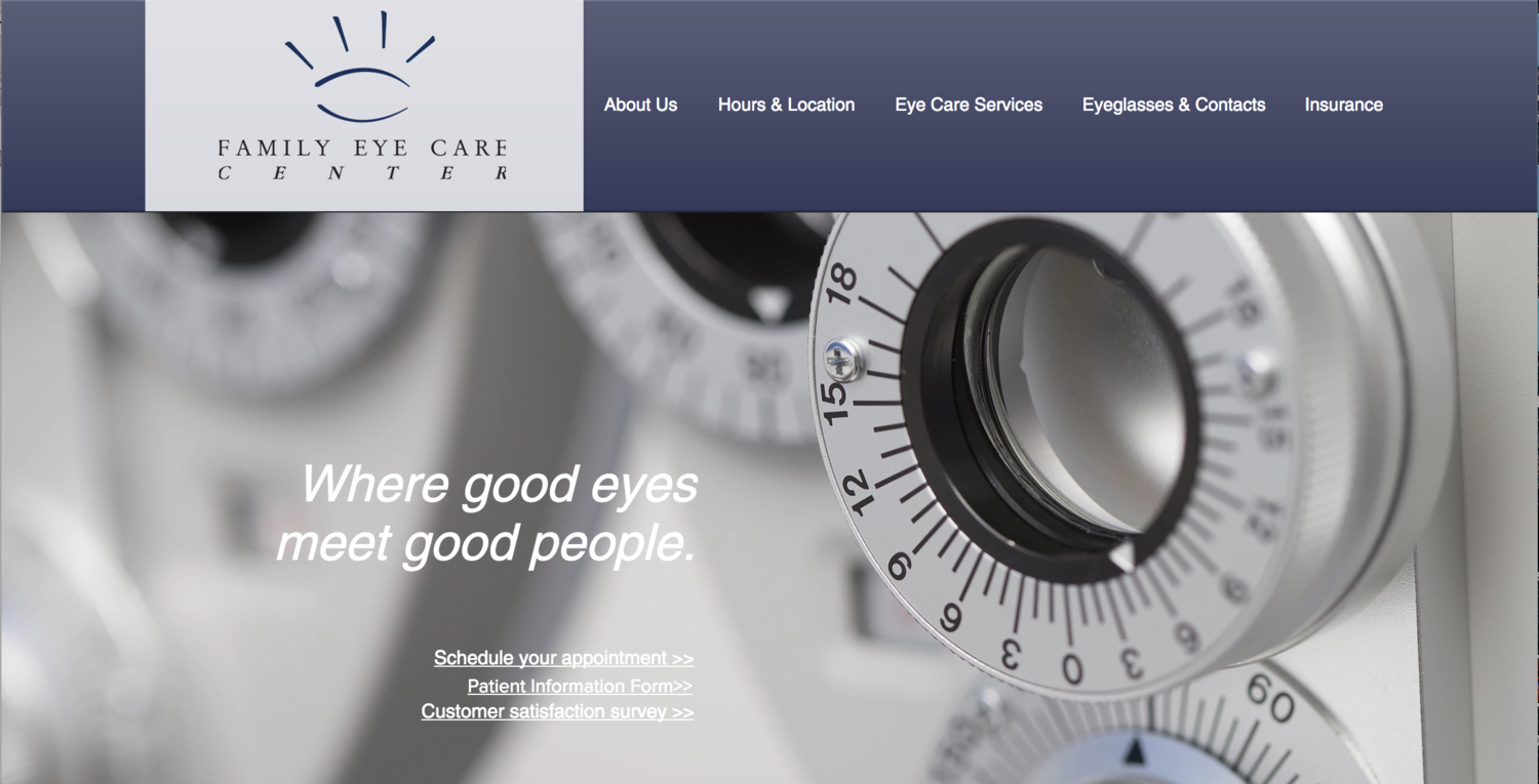 Family Eye Care Website