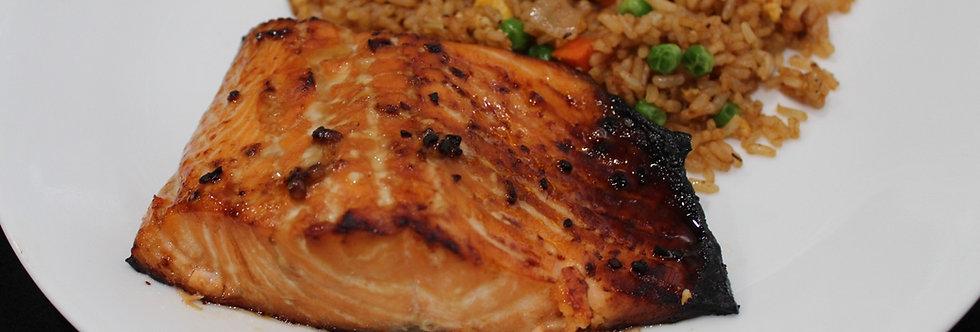Honey Garlic Salmon W/Vegetable Fried Rice