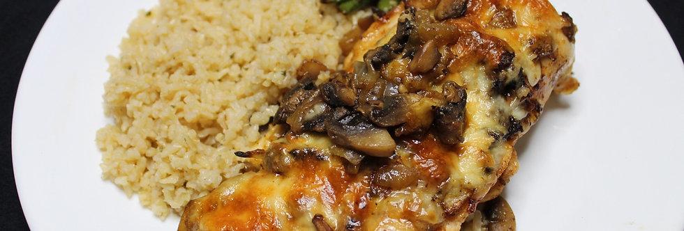 Mushroom Chicken W/Chicken flavored rice
