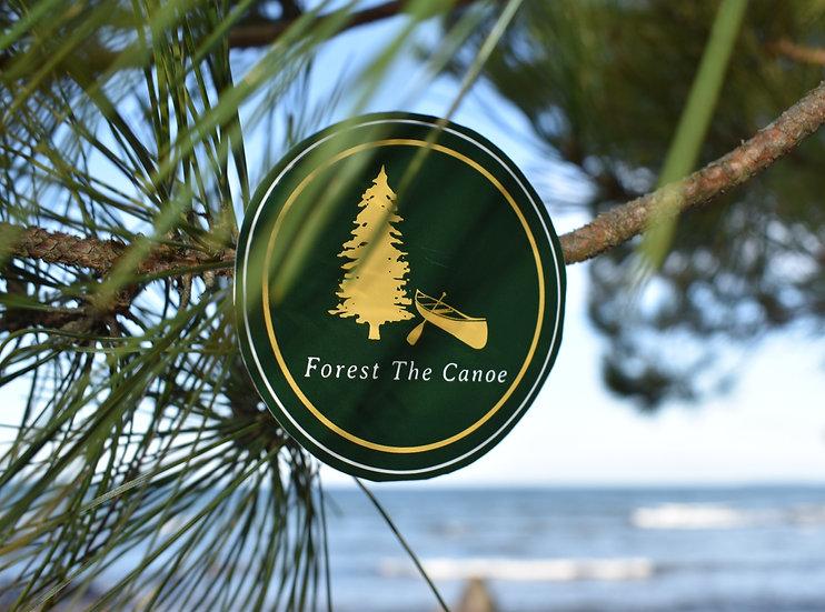 Forest The Canoe Vinyl Sticker