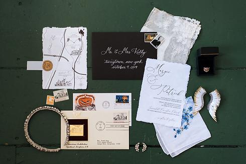 Wedding invitation design, Tarrytown, New York, Lyndhurst Mansion @kristinpiteophotography