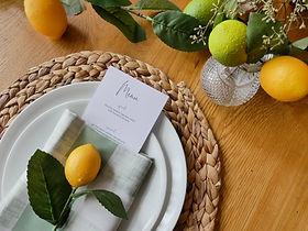 Cleveland table setting, lemon bridal shower, table decor, @pearlandcoevents
