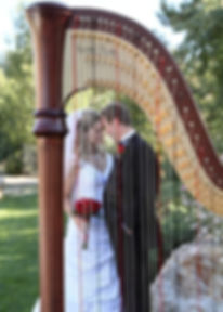 Mary Keener's harp taken at a wedding in Thornton Colorado at Stonebrook Manor