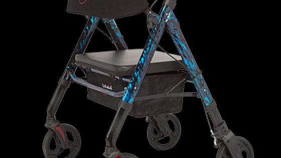 Regal - Bariatric Aluminum 4 Wheel Rollator with Universal Height Adjustment