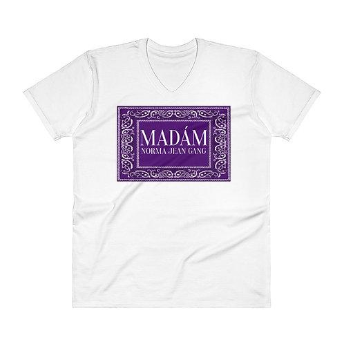 V-Neck MNJGANG flagT-Shirt