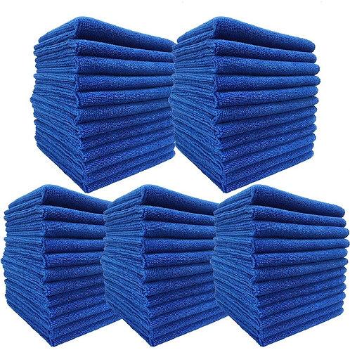 洗車タオル 60枚 吸水 マイクロファイバー ふきあげ クロス 30cmx30cm ブルー