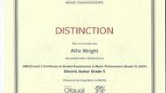 Alfie Wright Grade 5