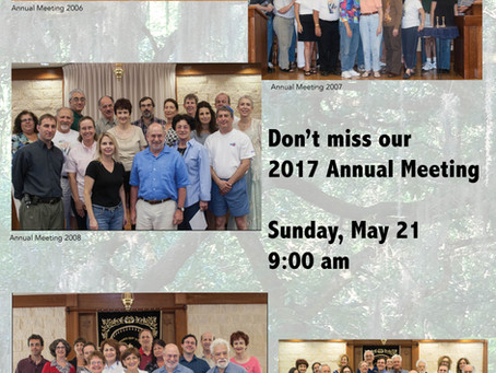 Temple Annual Meeting coming up!