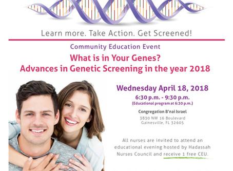 Genetic Testing sponsored by Hadassah