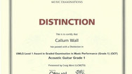 Callum Wall Grade 1