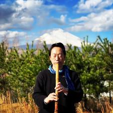 富士山と法竹。 富士山のエネルギーを感じました!  #尺八 #虚無僧  #法竹