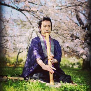 桜と法竹__#bambooflute  #hocchiku #shakuhach