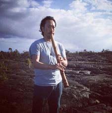 ハワイで法竹を吹いて来ました。2年前。__#hawaii #hawaiitrip