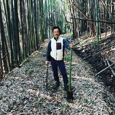 竹取りに来ました。  Bamboo harvest  #尺八 #虚無僧  #法竹