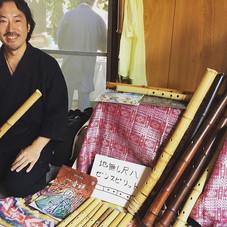 本日はひょうたん縁日で、竹笛と地無し尺八で出店しました。  #ひょうたん縁日 #