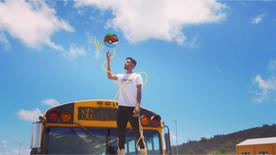 Prince Pronto balancing a basketball