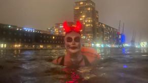 Fundraiser Faith raises more than just money on her Spooky Swim!