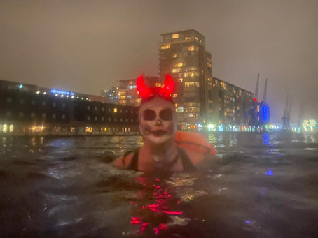 Fundraiser Faith raises more than just money on her Spooky Swim!