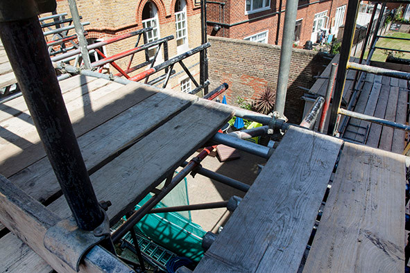 View from scaffolding Veterans Aid Londo