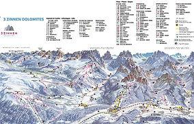 Tre Cime ski map