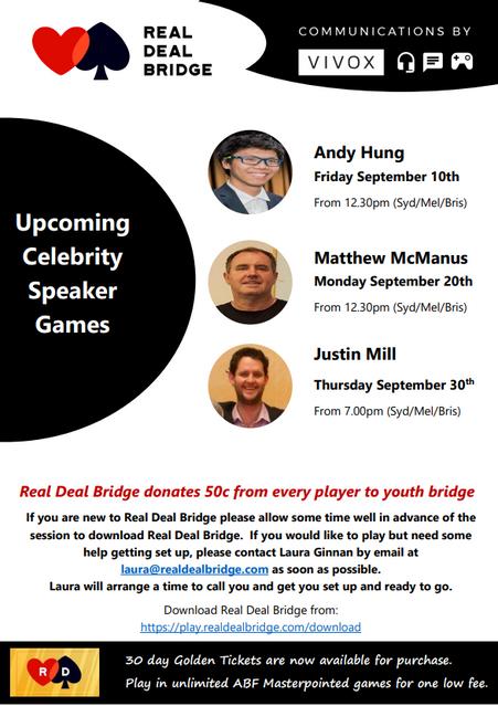 Upcoming Celebrity Speakers