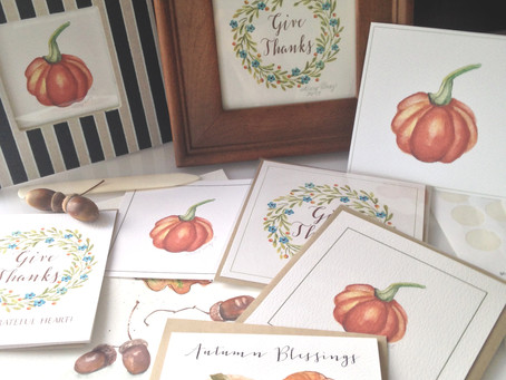 AUTUMN CARDS AND ART PRINTS