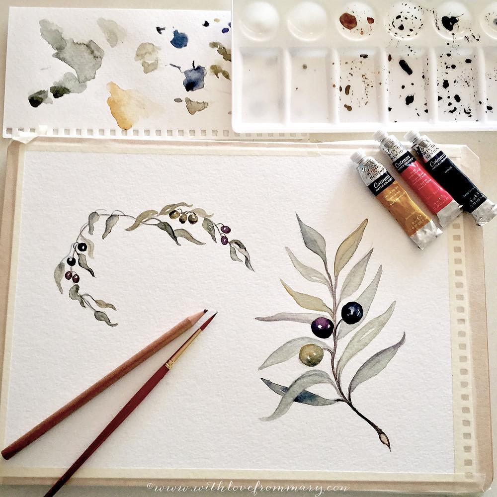 paintings olive leaves.jpg