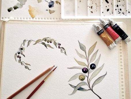 Olives and Olive Leaves