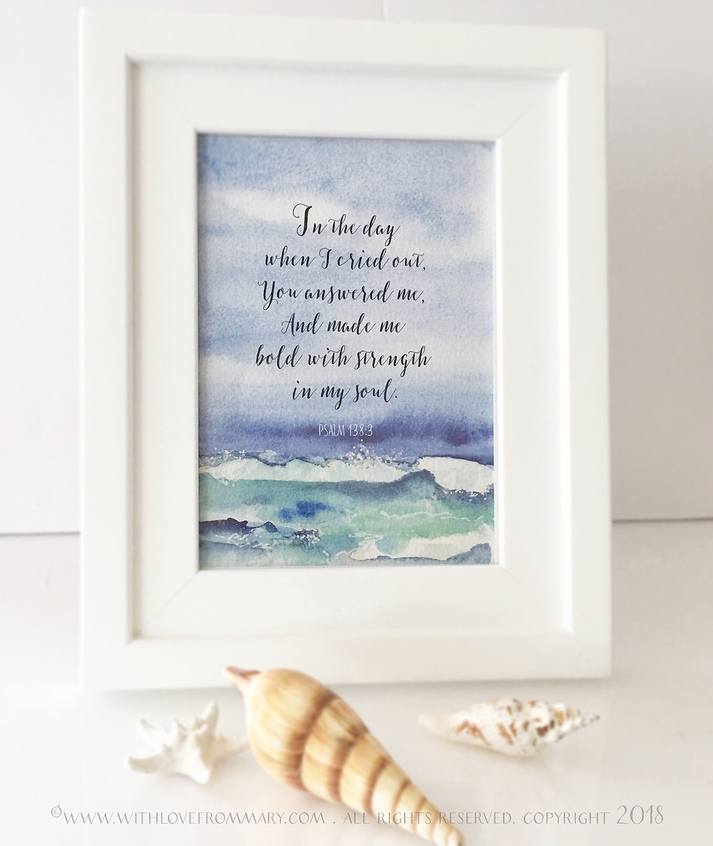 Seascape with Scripture