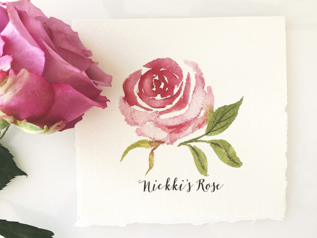 PAINTING A LOOSE ROSE IN WATERCOLOR
