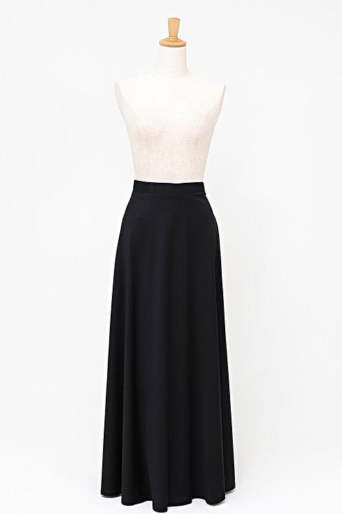 黒ロングスカート FREE 巻き 【丈約95cm】