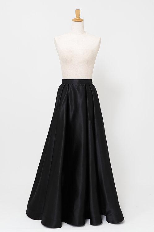 ラ・エトワール  オリジナル黒ロングスカート FREE ボリュームサテン 【丈約105cm】